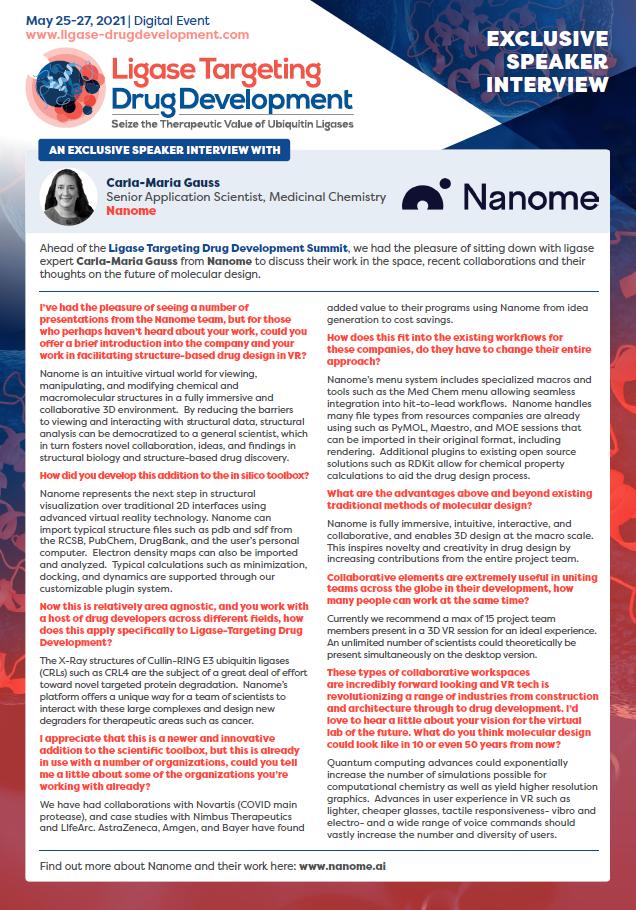 Nanome Interview